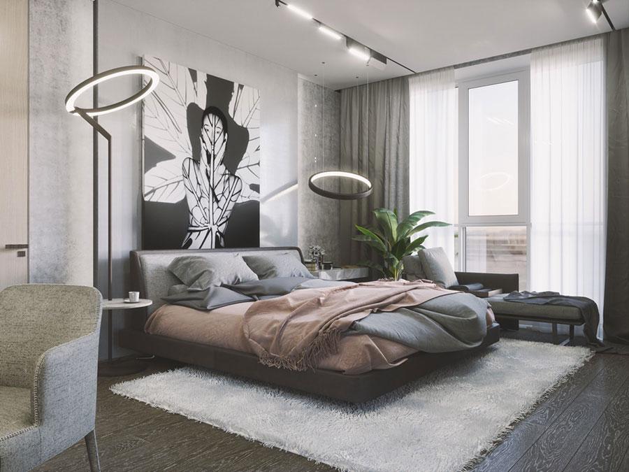 Idee per decorare la parete dietro al letto con i quadri n.05