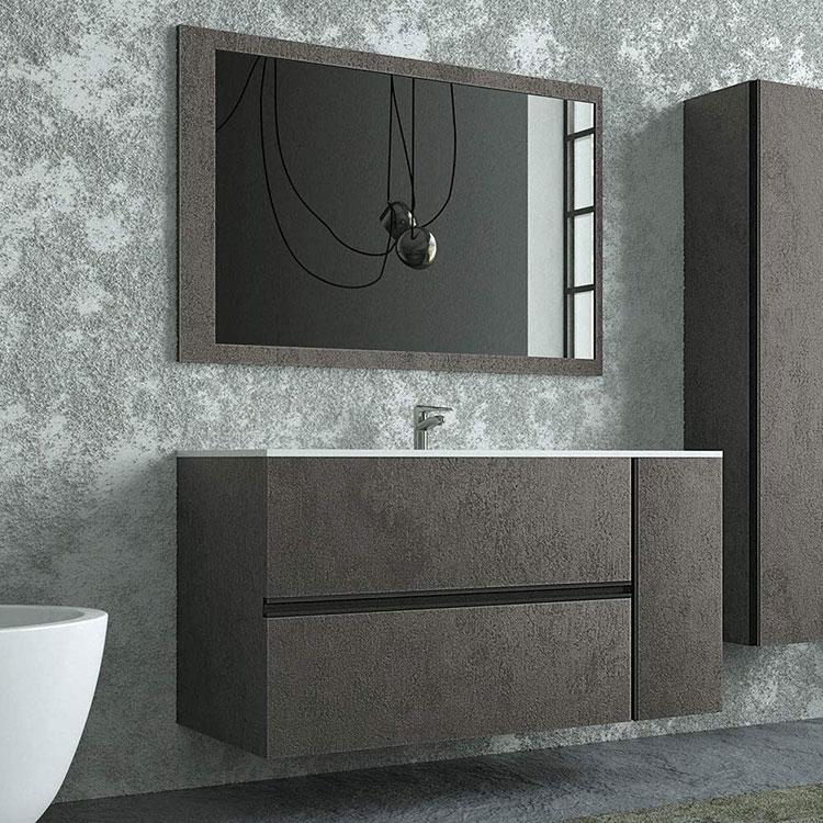 Idee per il mobile bagno colore antracite