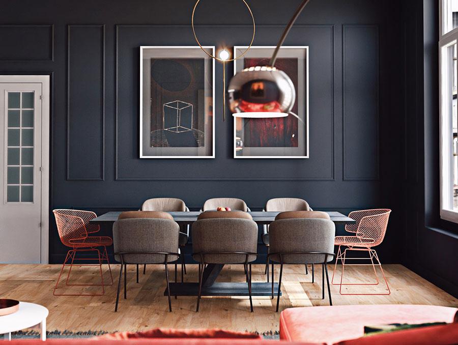 Idee per dipingere le pareti colore antracite n.02