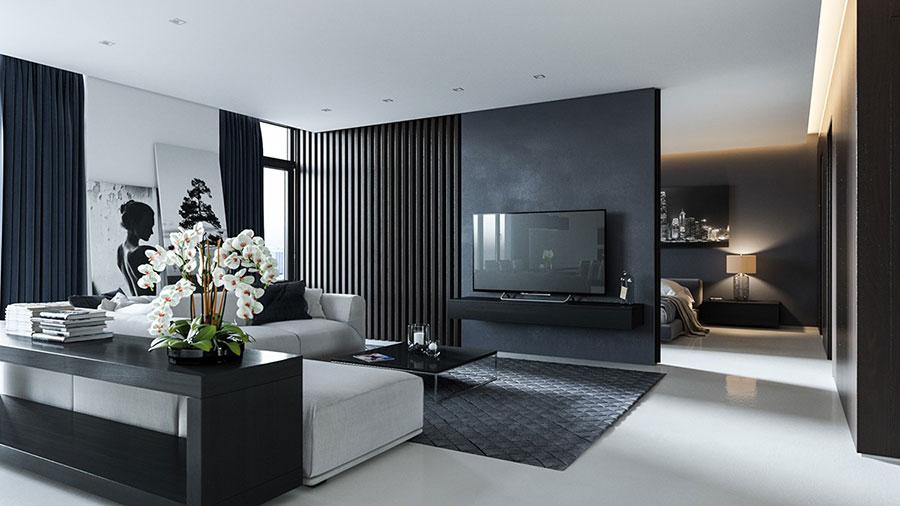 Idee per il soggiorno colore antracite n.05