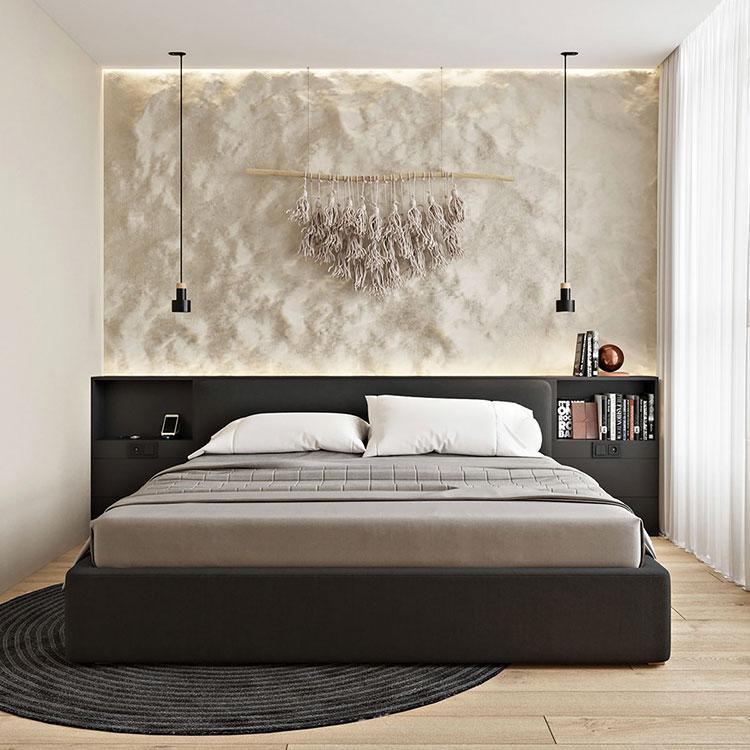 Idee per arredare una camera da letto di 9 mq n.01