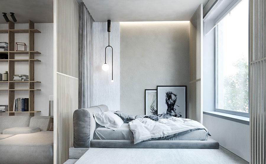 Idee per arredare una camera da letto di 9 mq n.05