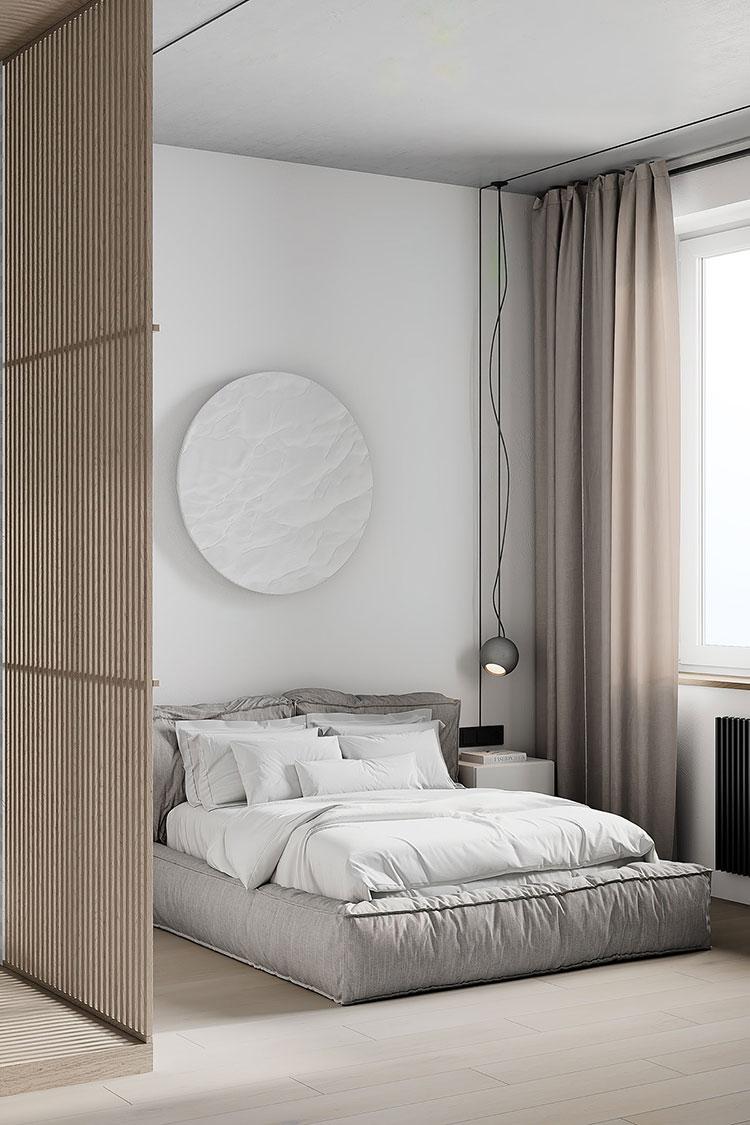 Idee per arredare una camera da letto di 9 mq n.06