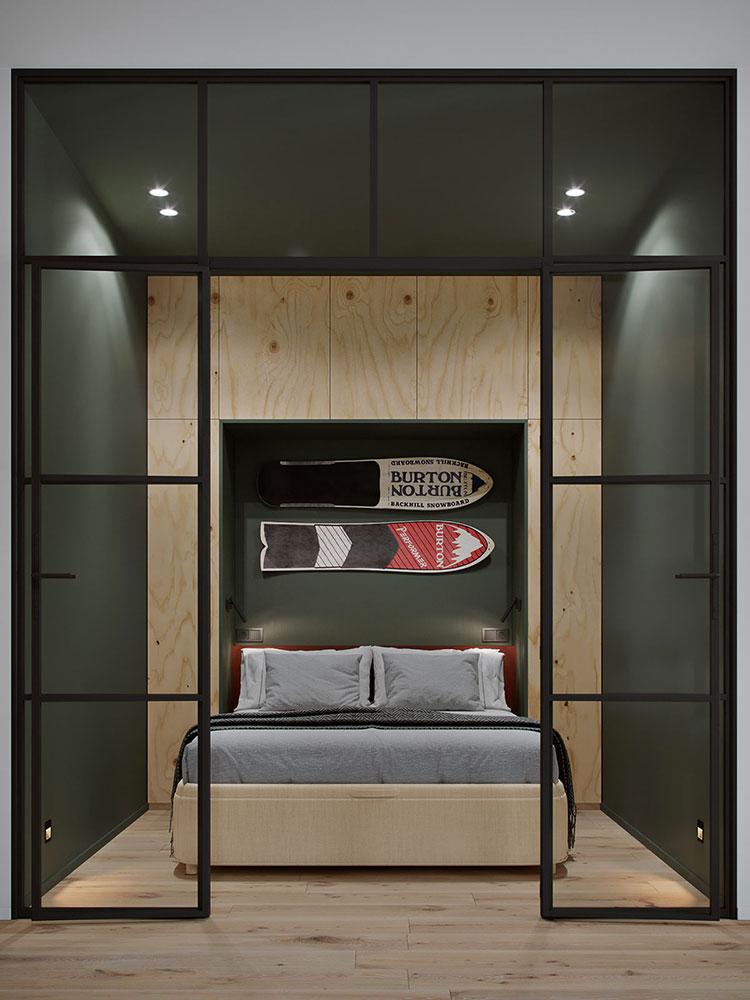 Idee per arredare una camera da letto di 9 mq n.07