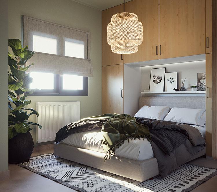 Idee per arredare una camera da letto di 9 mq n.11