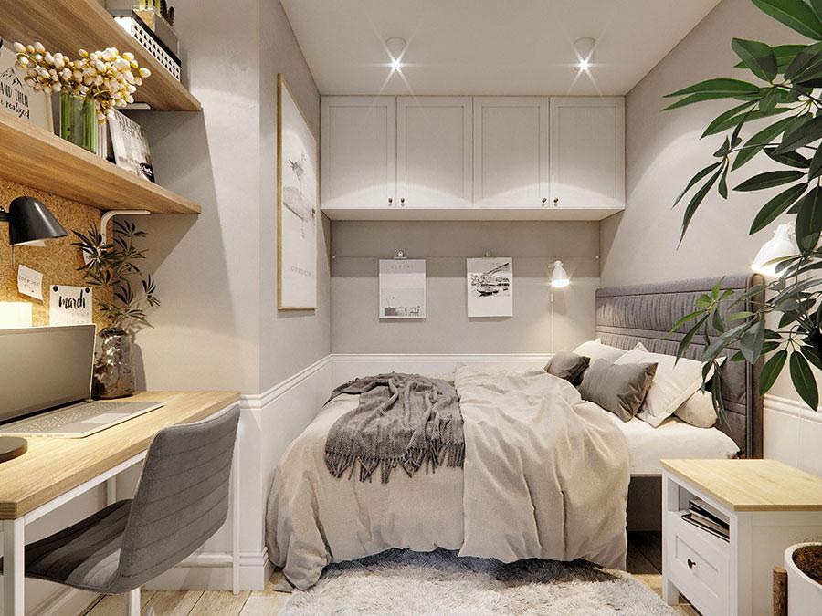 Idee per arredare una camera da letto di 9 mq n.15