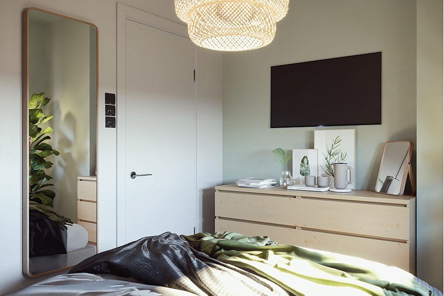 Idee per arredare una camera da letto di 9 mq n.21