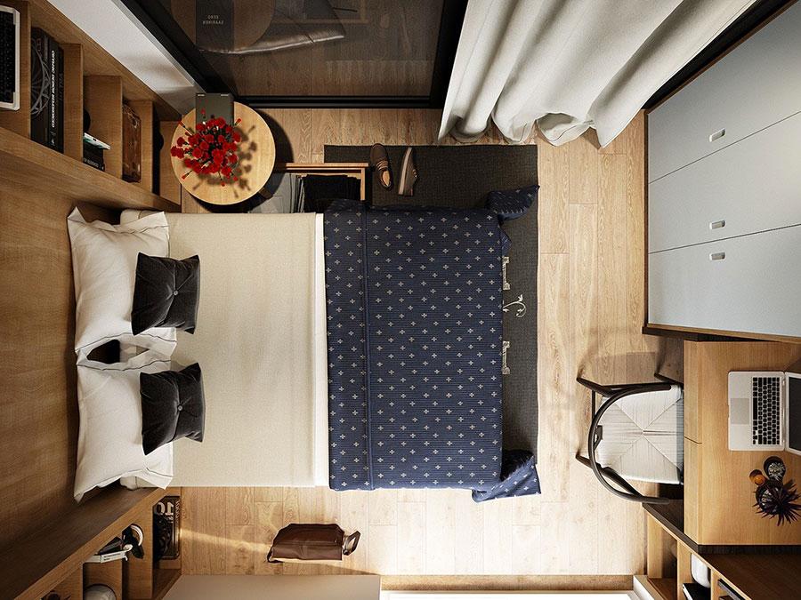 Idee per arredare una camera da letto di 9 mq n.23