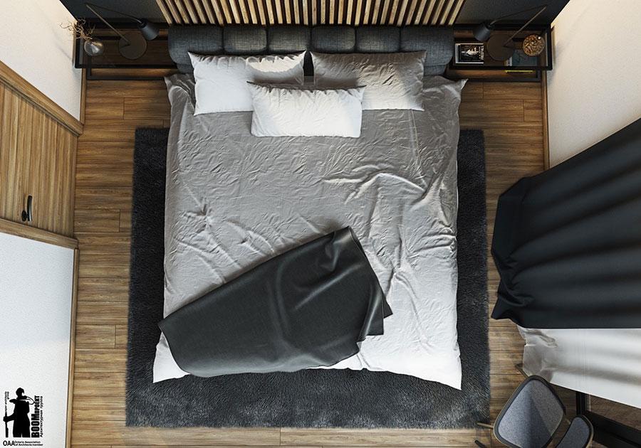 Idee per arredare una camera da letto di 9 mq n.24