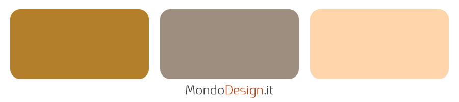 Idee abbinamento colore brave ground con diversi toni