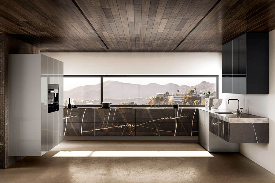 Modello di cucina di design Lago n.04