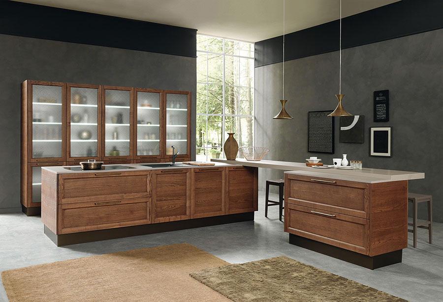 Modello di cucina in stile contemporaneo classico n.01