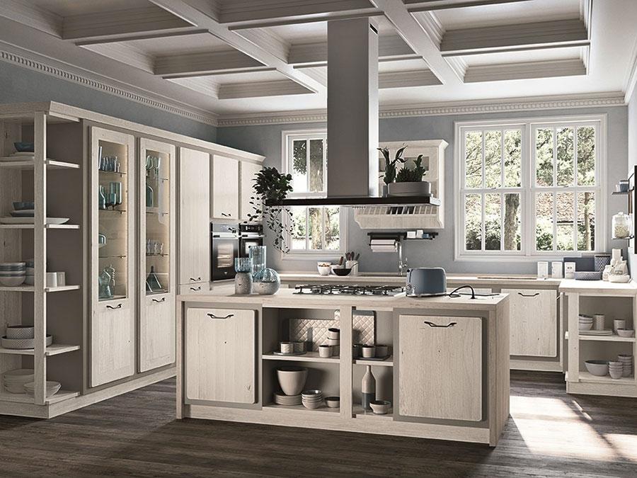 Modello di cucina in stile contemporaneo classico n.02