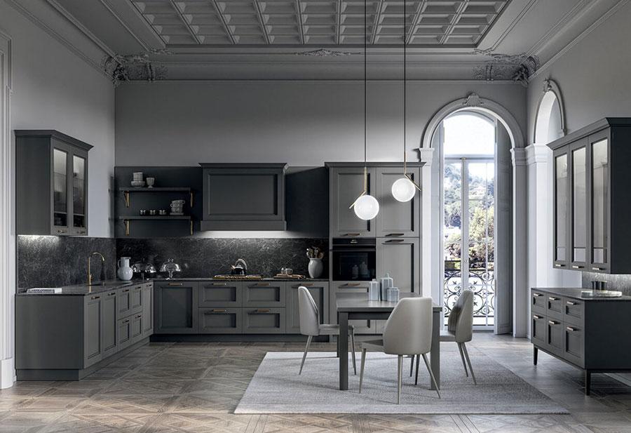 Modello di cucina in stile contemporaneo classico n.06