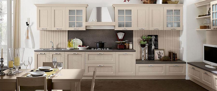 Modello di cucina in stile contemporaneo classico n.07