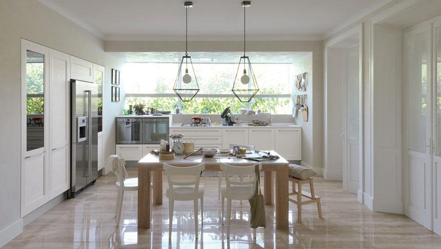Modello di cucina in stile contemporaneo classico n.08