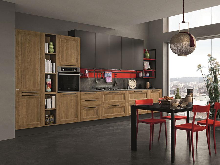 Modello di cucina in stile contemporaneo moderno n.01