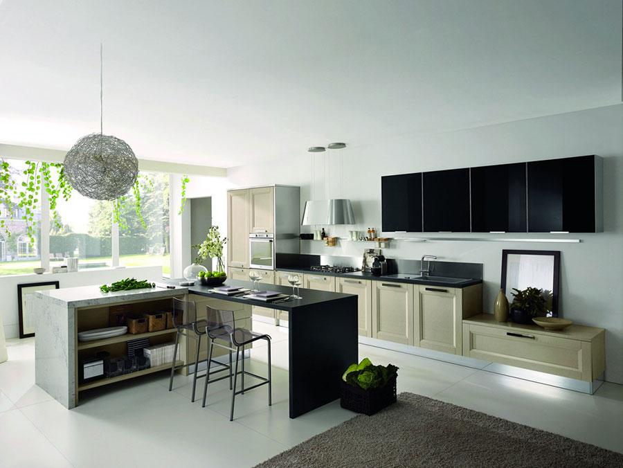 Modello di cucina in stile contemporaneo moderno n.05
