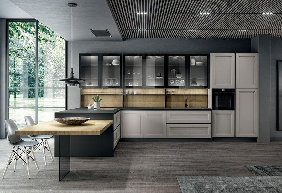 Modello di cucina in stile contemporaneo moderno n.06