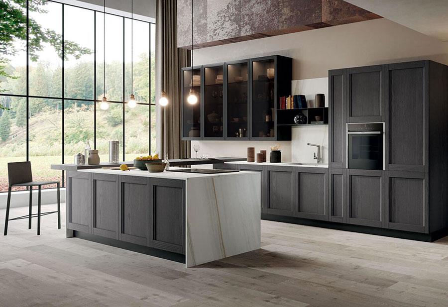 Modello di cucina in stile contemporaneo moderno n.07