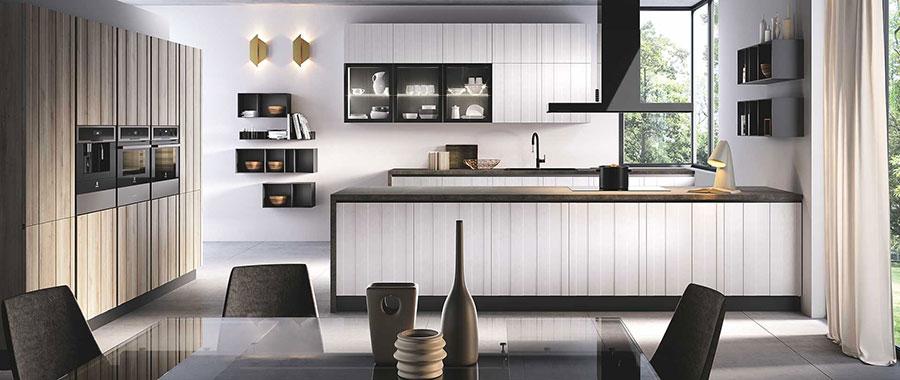 Modello di cucina in stile contemporaneo moderno n.08