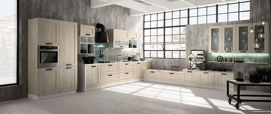 Modello di cucina in stile contemporaneo moderno n.09