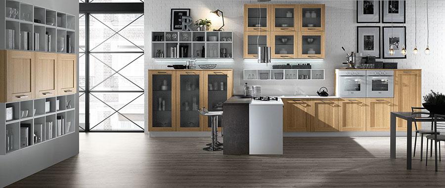 Modello di cucina in stile contemporaneo moderno n.10