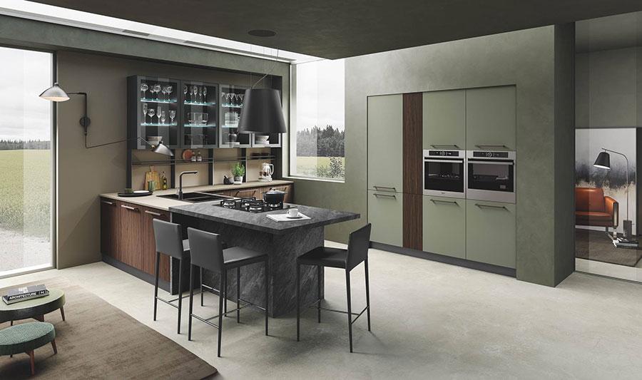 Modello di cucina in stile contemporaneo moderno n.11
