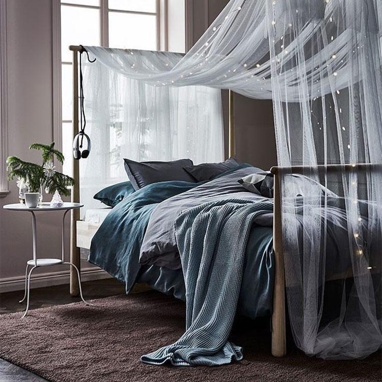 Modello di letto a baldacchino Ikea n.04