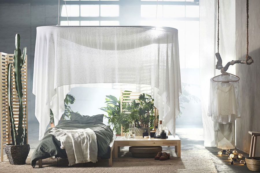 Modello di letto a baldacchino Ikea n.05