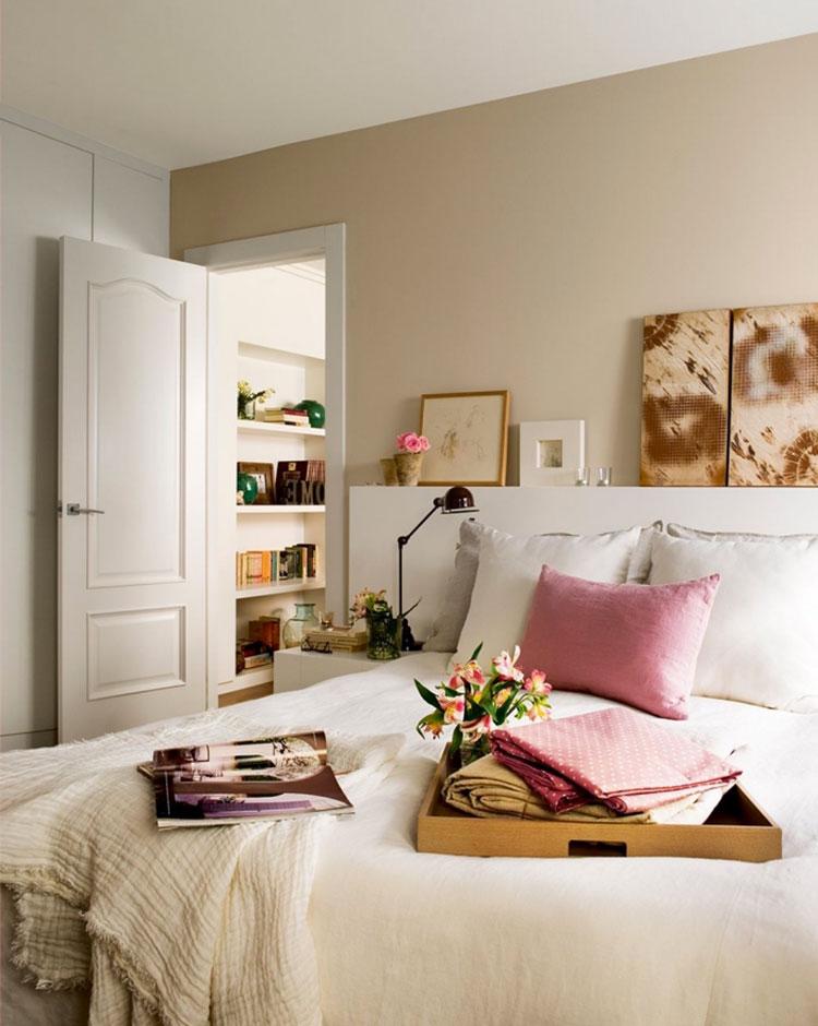 Idee pareti camera da letto colore sabbia n.01