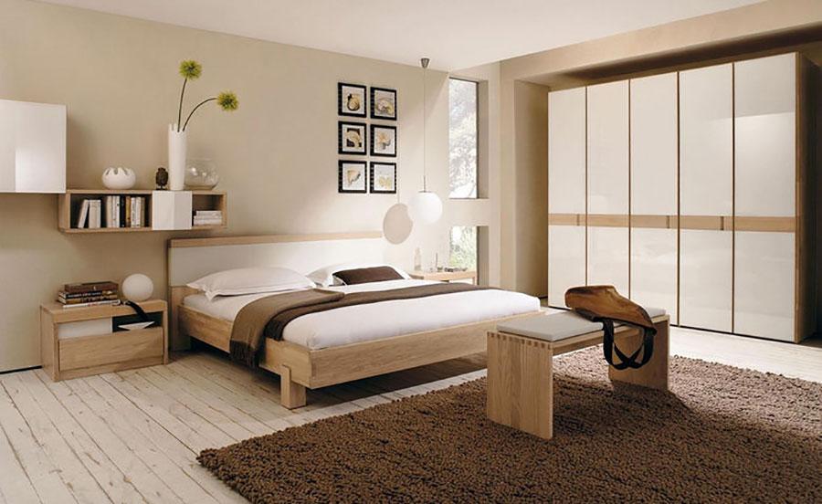 Idee pareti camera da letto colore sabbia n.04