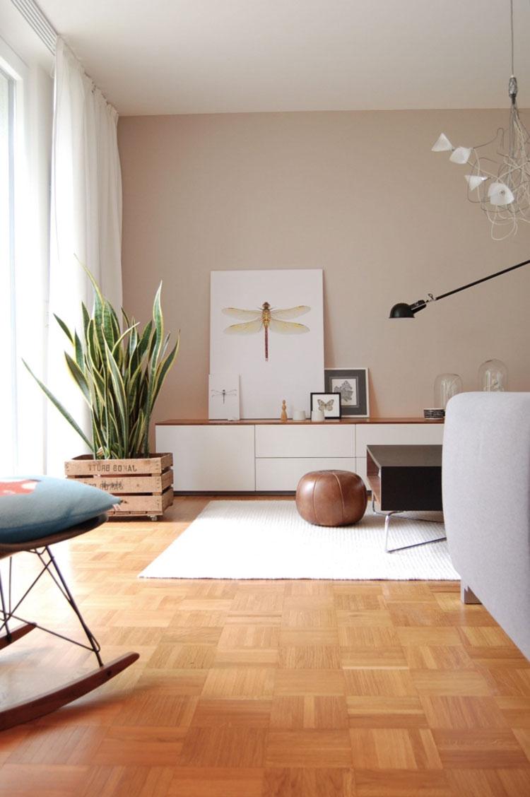 Idee pareti soggiorno colore sabbia n.03