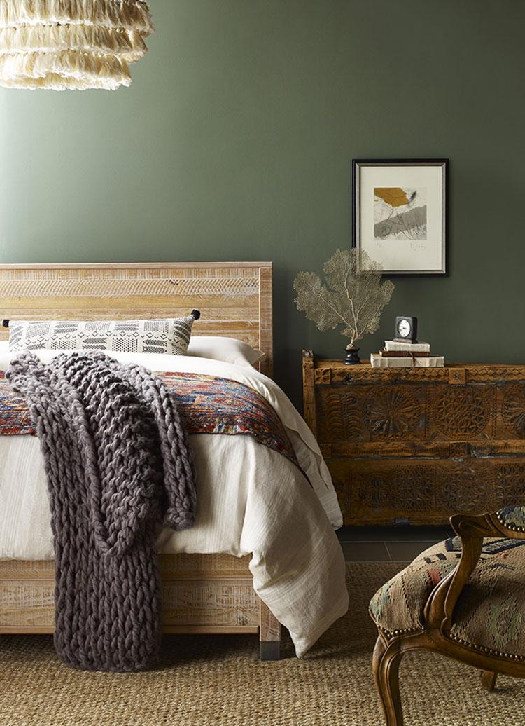 Idee per dipingere le pareti della camera da letto con i colori 2021 n.02