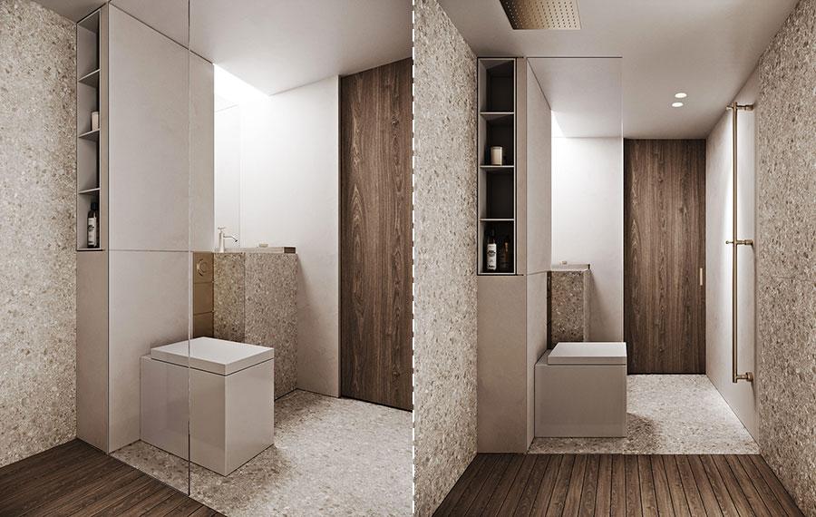 Idee per arredare un bagno di 2 mq n.02