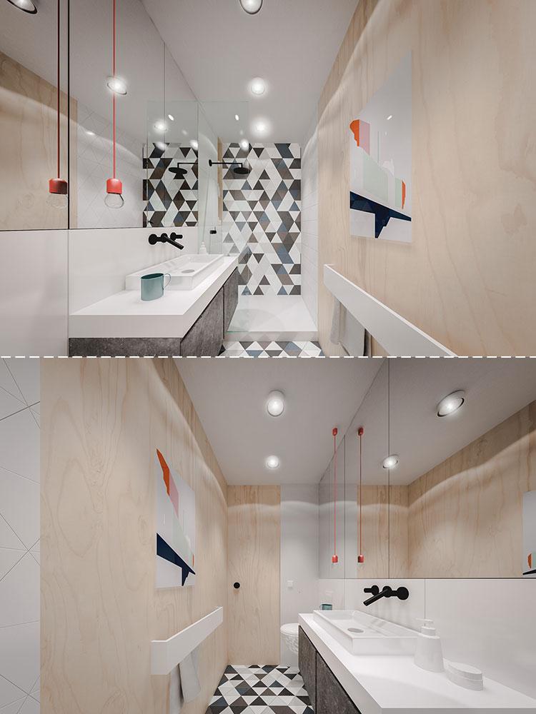 Idee per arredare un bagno di 2 mq n.03