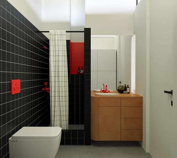 Idee per arredare un bagno di 2 mq n.07