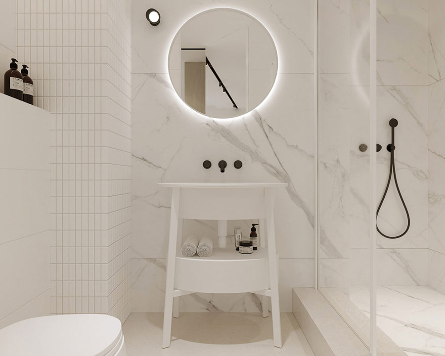 Idee per arredare un bagno di 2 mq n.09