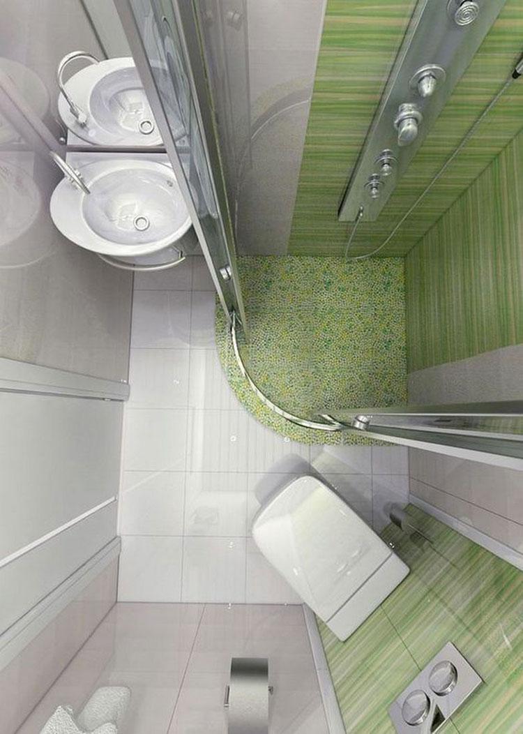 Idee per arredare un bagno di 2 mq n.18