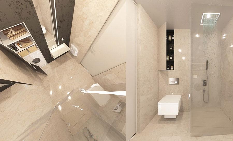 Idee per arredare un bagno di 2 mq n.20