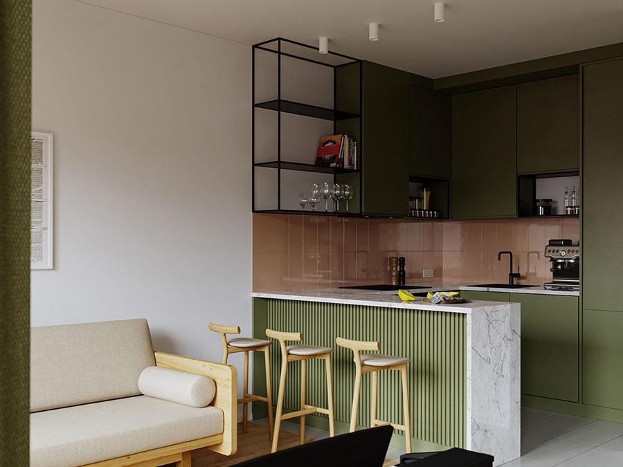 Idee di arredamento per un open space piccolo n.18