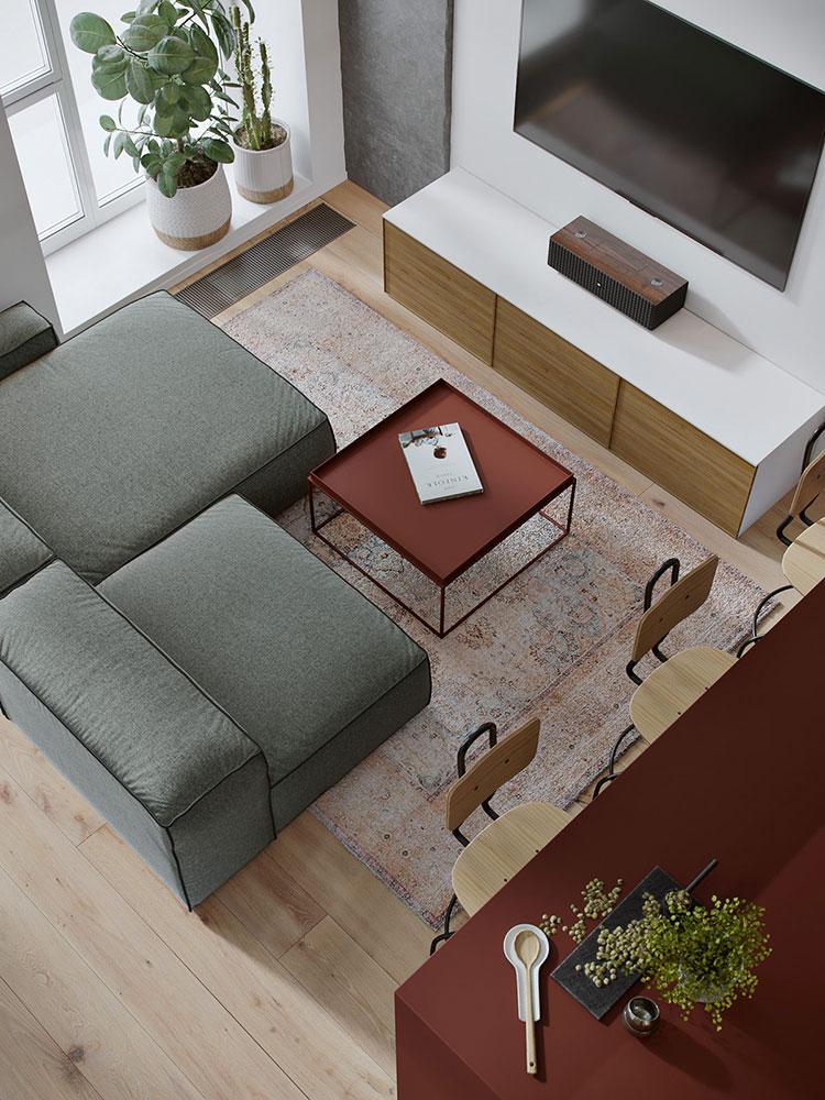 Idee di arredamento per un open space piccolo n.21
