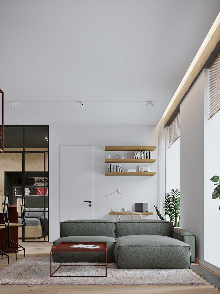 Idee di arredamento per un open space piccolo n.22