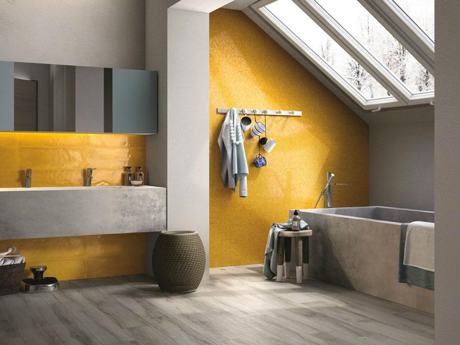 Idee per arredare il bagno con i colori Pantone 2021 grigio e giallo n.02