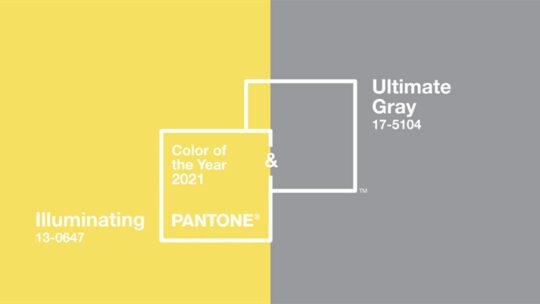 Colore Pantone 2021 grigio e giallo