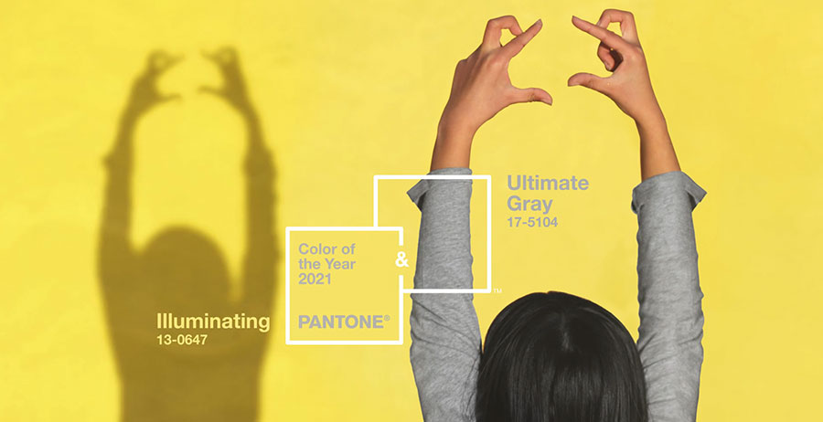 Ultimate Gray e Illuminating colori del 2021 secondo Pantone