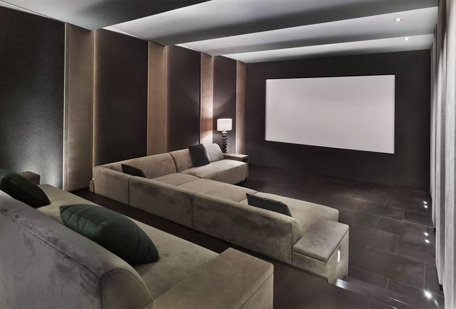 Idee per realizzare una sala cinema in casa n.08