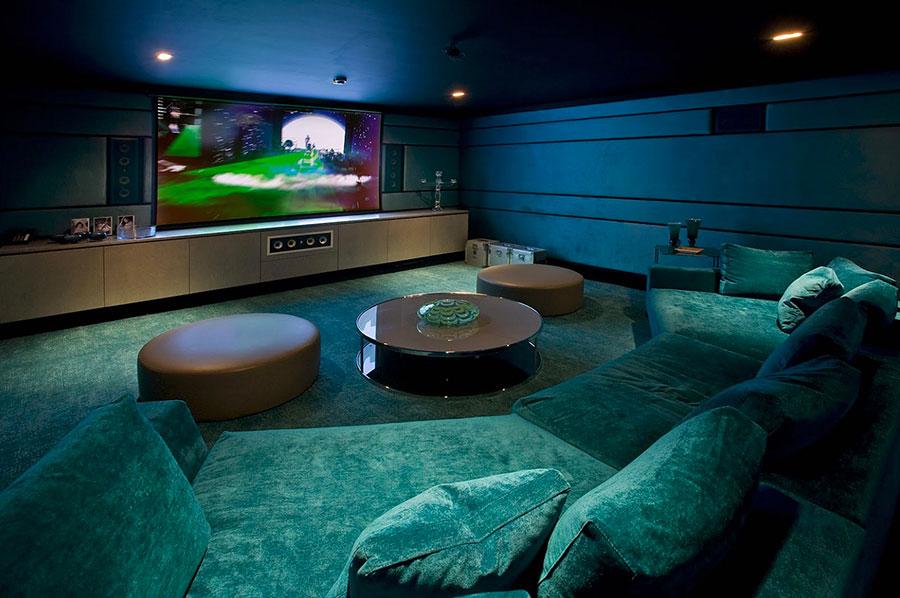 Idee per realizzare una sala cinema in casa n.10