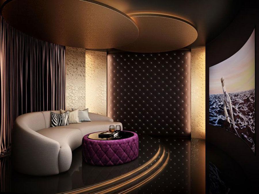 Idee per realizzare una sala cinema in casa n.12