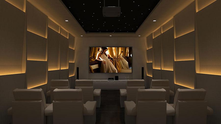 Idee per realizzare una sala cinema in casa n.13